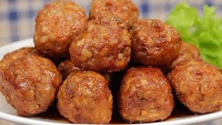 Sweet and Sour Meatballs with Lotus Root (Perfect Bento Ingredient Recipe)  Cooking with Dog