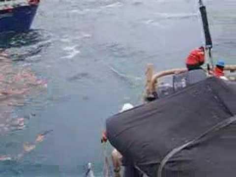 COAST GUARD CUTTER MUSTANG TOWS EQUINOX TO SEWARD ALASKA