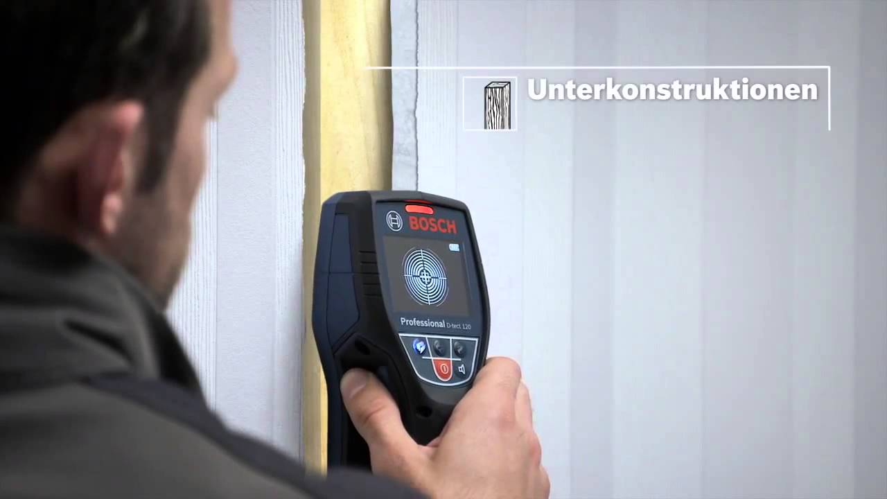 bosch wallscanner d-tect 120 professional - youtube