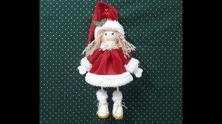 Boneca de Fuxico De Natal