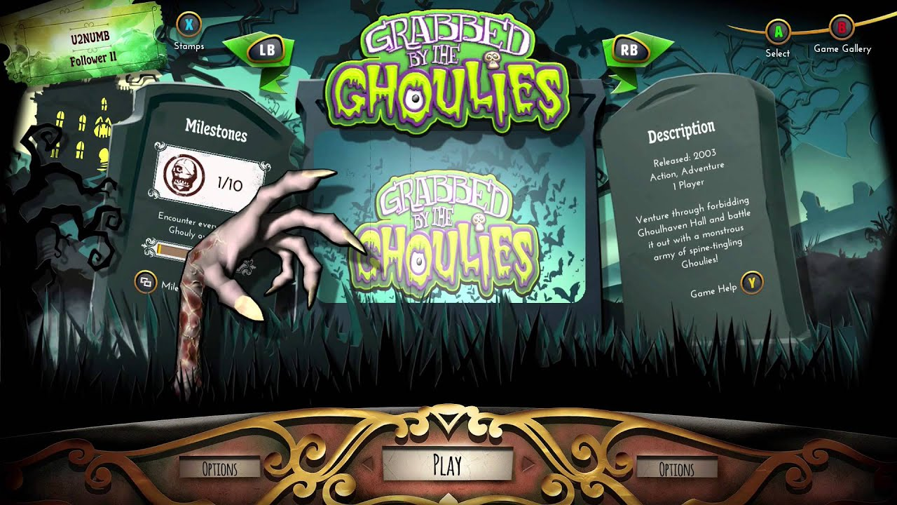grabbed by the ghoulies xbox emulator