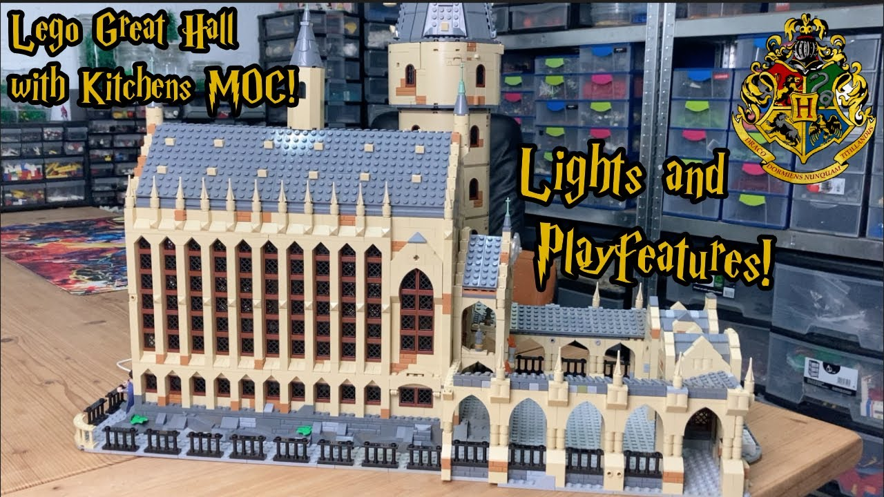 Download Lego Hogwarts Great Hall with Kitchens MOC! With Lights & Play Features! BLH Part VIII