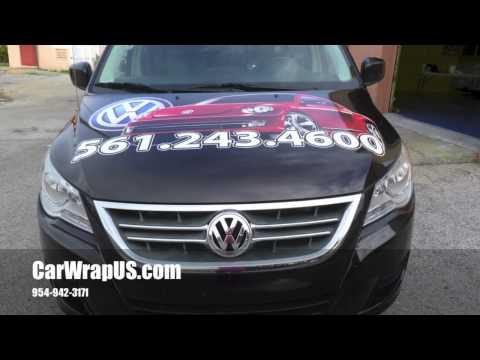 Routan Mini Van 3M Vinyl Wrap Volkswagen/Volvo Delray Beach