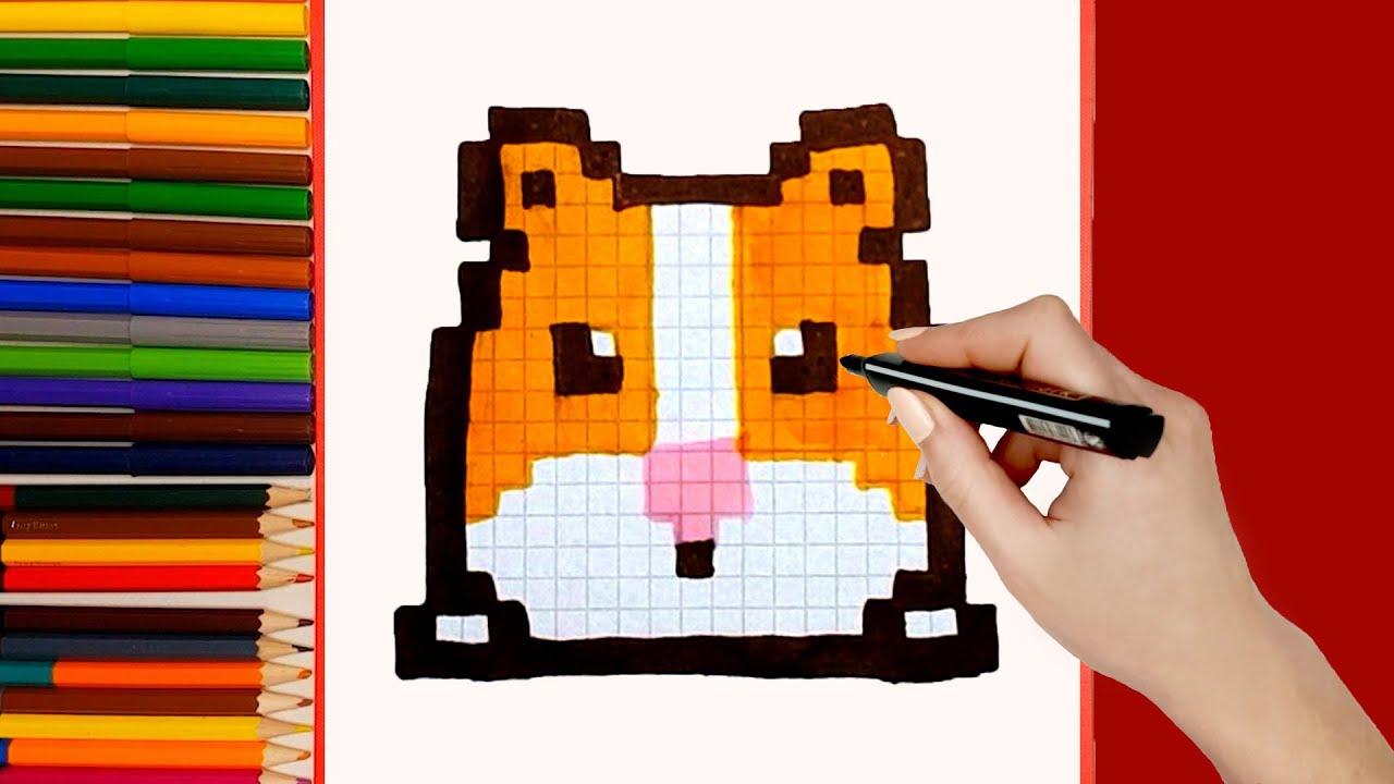 Cómo dibujar un Hámster celda por celda 🐹 Pixel Art