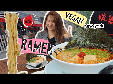 🚩ADDICTING JAPANESE #vegan PORK BROTH RAMEN •  Restaurant Review • NYC Ramen Danbo