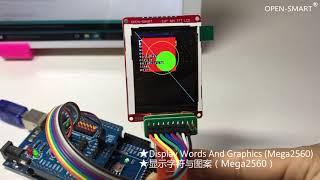 OPEN SMART 2.0INCH 3.3V 5V SPI TFT LCD Tutorial
