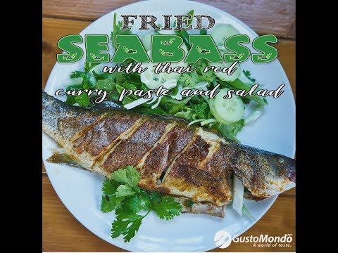 Pan Fried Sea Bass With Red Thai Curry Paste And Salad | Gustomondo