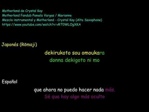Motherland crystal kay  karaoke Jap Esp version 5 alto sax