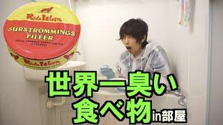 【地獄】世界一臭い食べ物を部屋で開封そして食う thumbnail