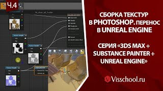 3ds max + Unreal Engine + Substance Painter – часть 4. Photoshop – сборка текстур, их импорт в UЕ