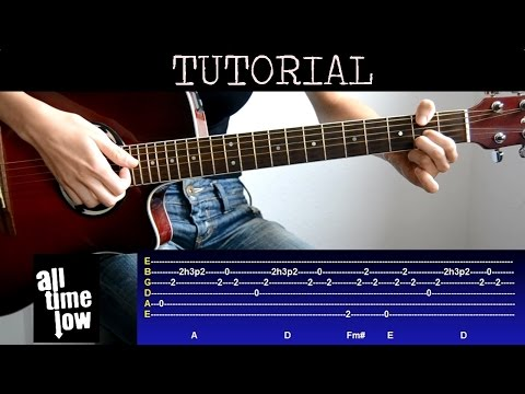 Cmo Tocar Therapy All Time Low Tutorial Guitarra Youtube