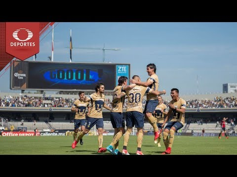 Resumen Pumas 3 - 1 Atlas | Clausura 2018 - Jornada 2 | Televisa Deportes