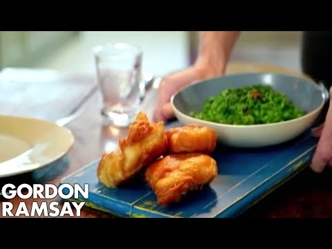 Ginger Beer Battered Fish with Chilli Minted Mushy Peas | Gordon Ramsay