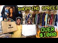 INSANE $1000 SHOPPING SPREE! FINDING RARE VINTAGE GEMS & CRAZY STREETWEAR! 3 BAGS OF PICKUPS!