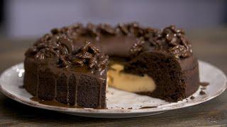 Невероятный ВУЛКАН Шоколадный бисквит и заварной крем ПРОСТОЙ РЕЦЕПТ торта от Лизы Глинской
