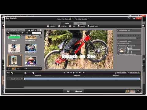 Titelhintergrund in Pinnacle Studio 16 und 17 Video 57 von 114