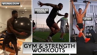 Football Players Strength & Gym Workouts ?? Home Workout Routines