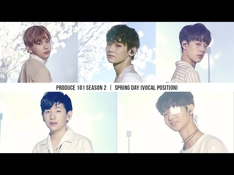 FAN EDIT PRODUCE 101 SEASON 2 - SPRING DAY '봄날' VOCAL POSITION
