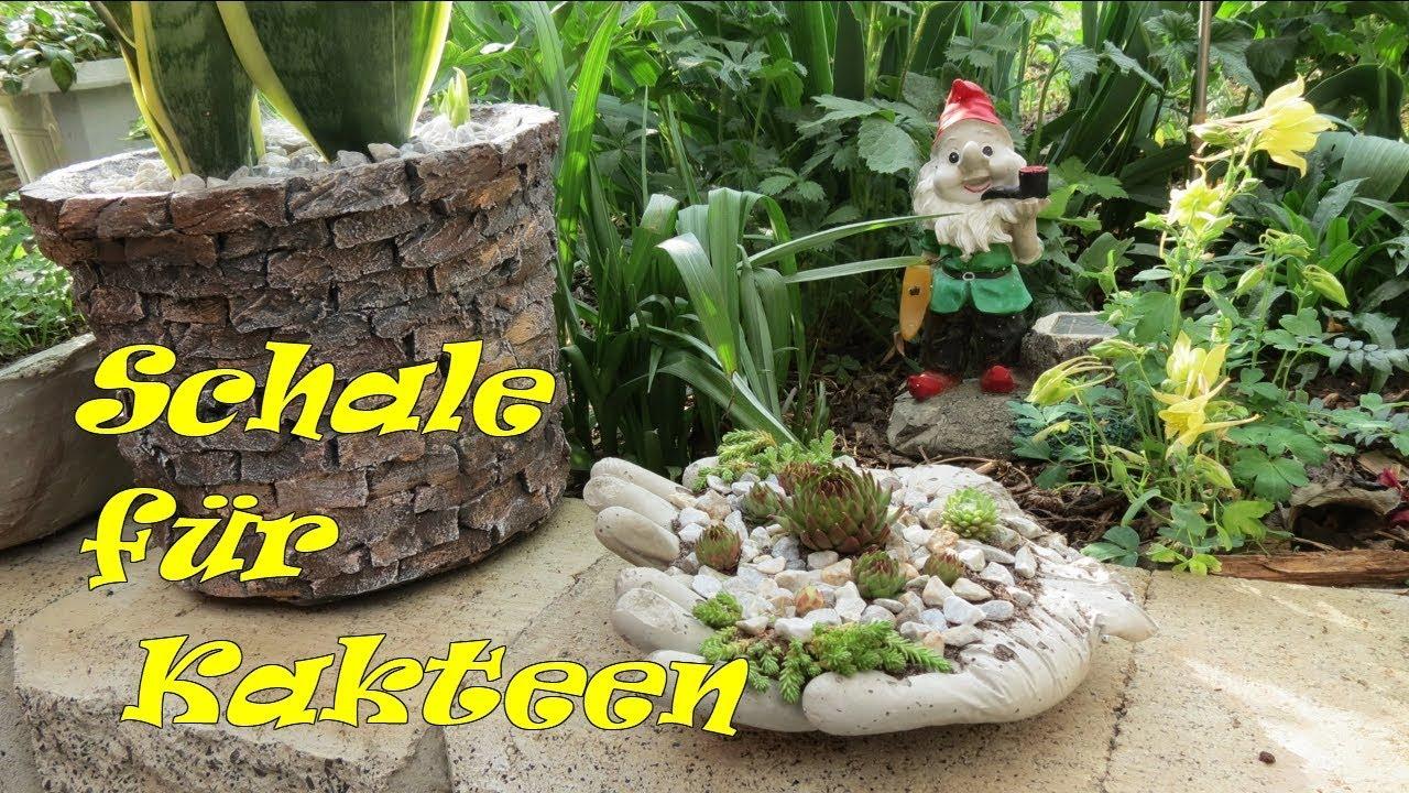 Dekoration Für Garten Aus Beton Selbst Machen Kakteen Pflanzgefäße