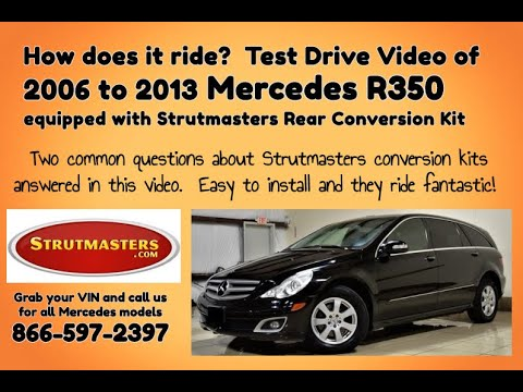 suspension mercedes mercedes r 350 with a rear air spring rh youtube com