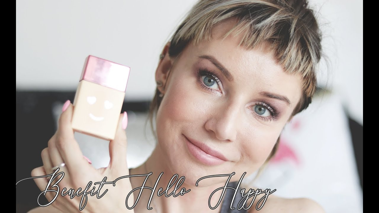 BENEFIT Hello Happy podkład TEST NA ŻYWO - TOTALNA NOWOŚĆ ! | Delicious Beauty