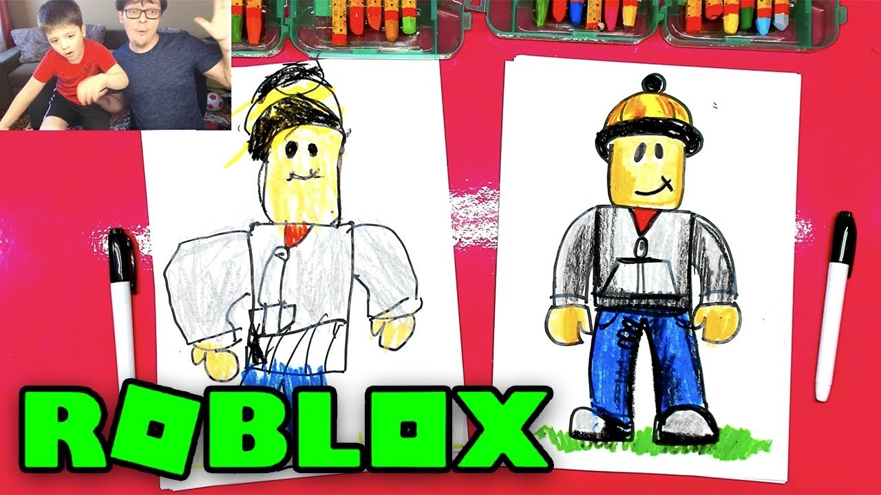 How To Draw Roblox Art Witn Kids Coloring Builderman Youtube