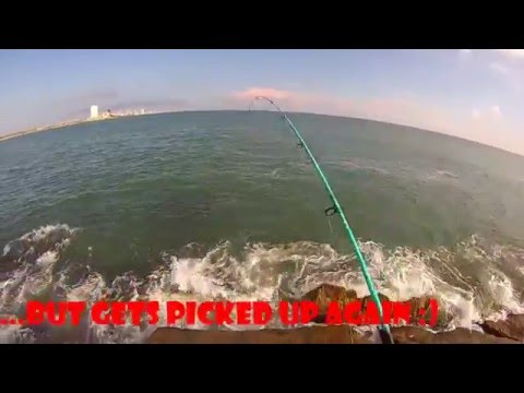 South Padre Island jetty fishing for Spanish Mackerel
