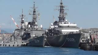 練習艦隊、呉入港♪ 練習艦かしま 護衛艦いなづま  練習艦やまゆき 呉地方隊 アレイからすこじま 海上自衛隊 2019