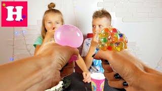РЕЖЕМ АНТИСТРЕСС / SQUISHY FOOD ПРОТИВ настоящая ЕДА / REAL FOOD vs squishy toys CHALLENGE
