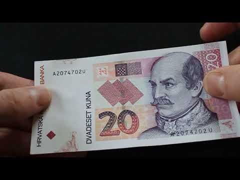 20 Croatia Kuna Radar Banknote ( Fancy Serial Number )