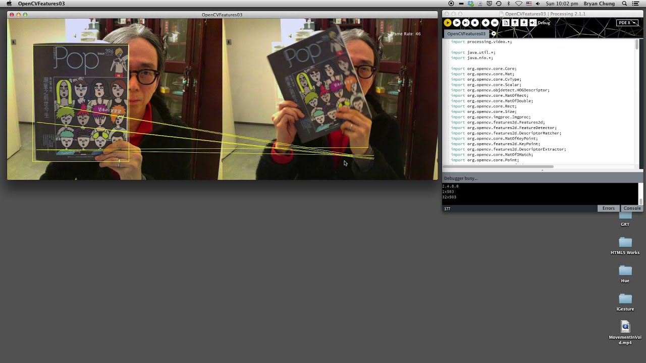 template matching in image processing - opencv feature points matching in processing youtube