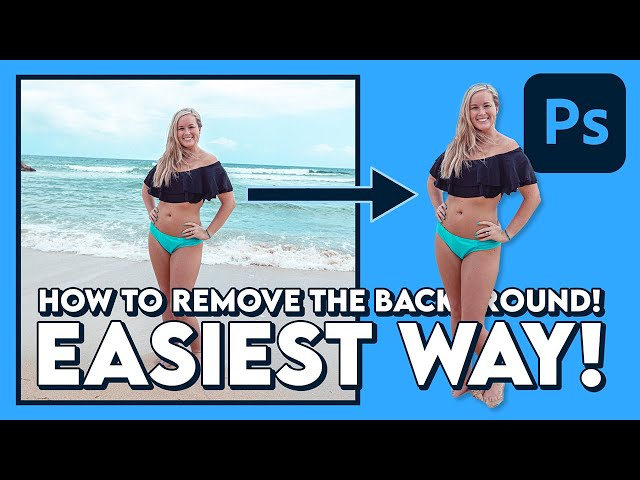 How to REMOVE the BACKGROUND (EASIEST WAY) / Adobe Photoshop (Tutorial)