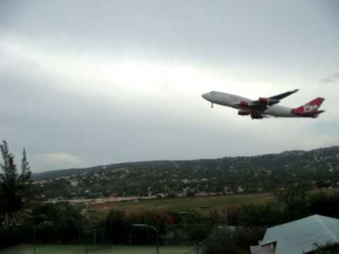 Jet taking off from Montego Bay, Jamaica