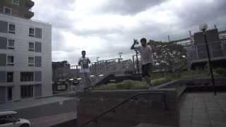 Jaydn Clark sideflip precision bail slow motion