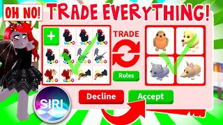 Siri Decides What I Trade And Made Me Trade My WHOLE Inventory In Adopt Me! (Roblox)