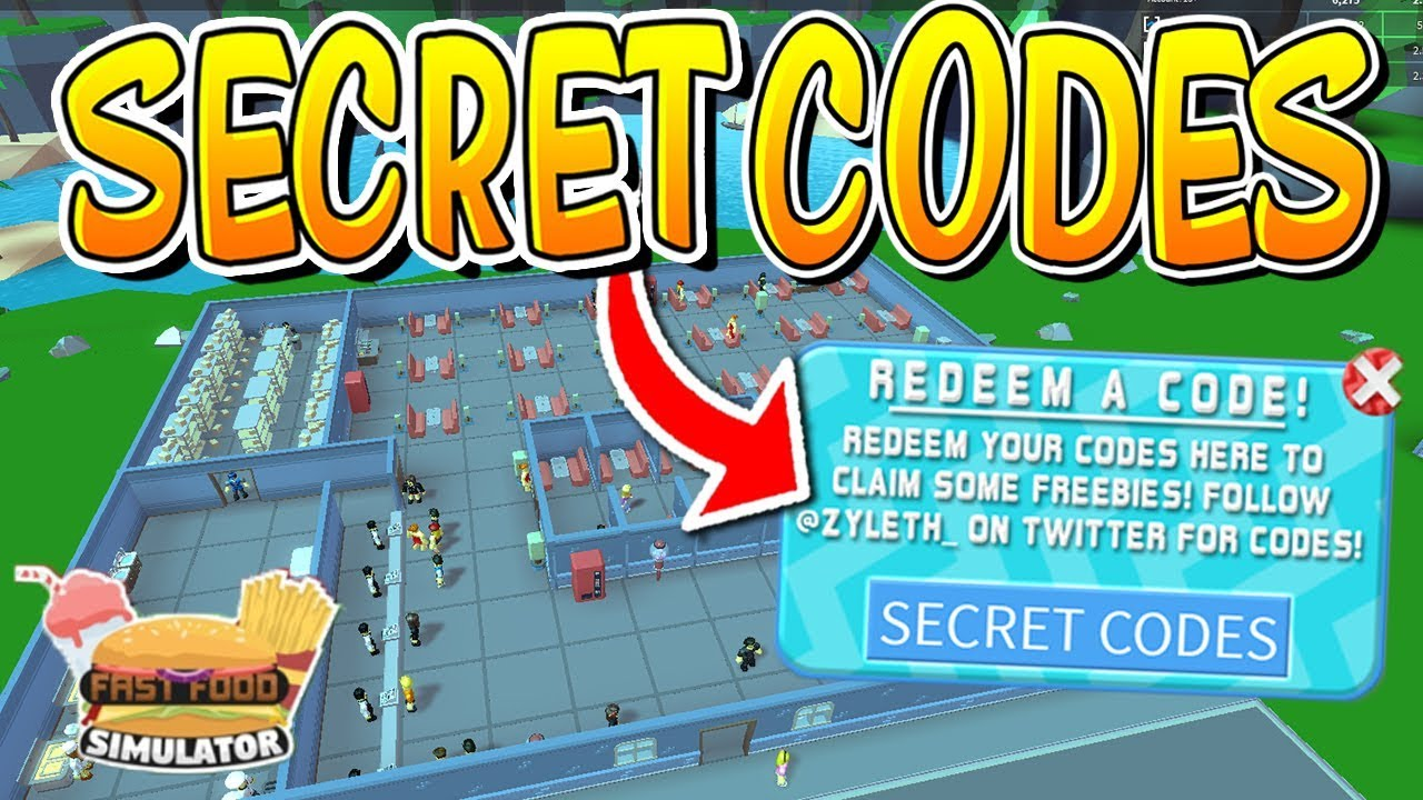 ALL CODES IN ROBLOX FAST FOOD SIMULATOR!! - YouTube