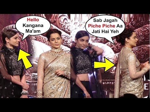 Kangana Ranaut Ignores Ankita Lokhande At Manikarnika Music Launch