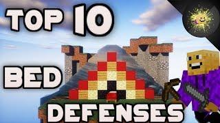 TOP 10 Bed Defenses - Hypixel Bedwars (Best Bed Defenses)