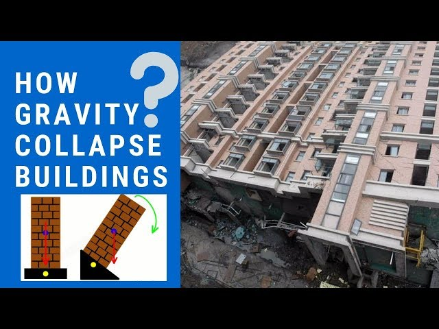 How Gravity Works Against Buildings? Gravity Collapse Buildings?
