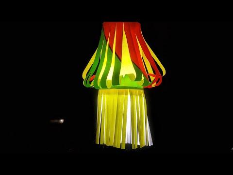Diwali Akash Kandil making at Home   diwali lantern making   Diwali decoration ideas   DIY craft