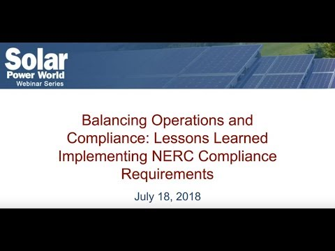 WEBINAR: Lessons Learned Implementing NERC Compliance Requirements