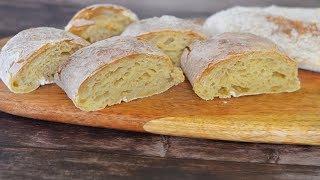 ЧИАБАТТА - хлеб без ЗАМЕСА   Вкусный РЕЦЕПТ итальянского ДОМАШНЕГО ХЛЕБА   Готовим чиабатту дома