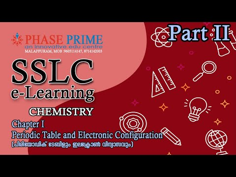 SSLC E-LEARNING | CHEMISTRY CHAPTER - 1 | PERIODIC TABLE AND ELECTRONIC CONFIGURATION - EP 2