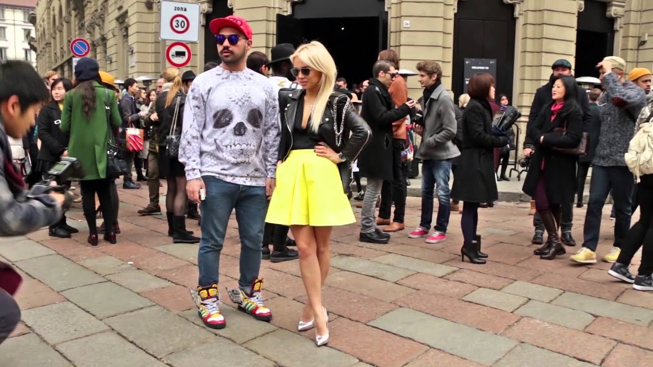 Street Style Men 39 S Fashion Week Milan January 11 14 2014 Youtube