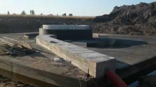 Budowa fundamentów pod wiatrak w Pieckach