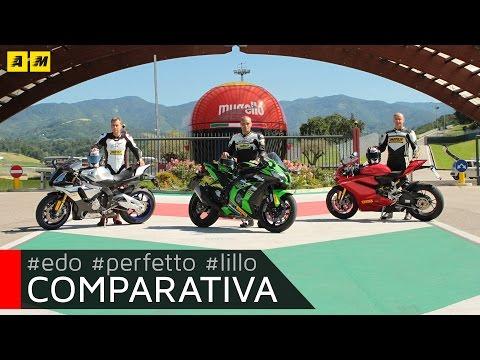 Kawasaki ZX-10R Ninja 2016 Vs Yamaha YZF-R1M Vs Ducati Panigale 1299S [ENGLISH SUB]