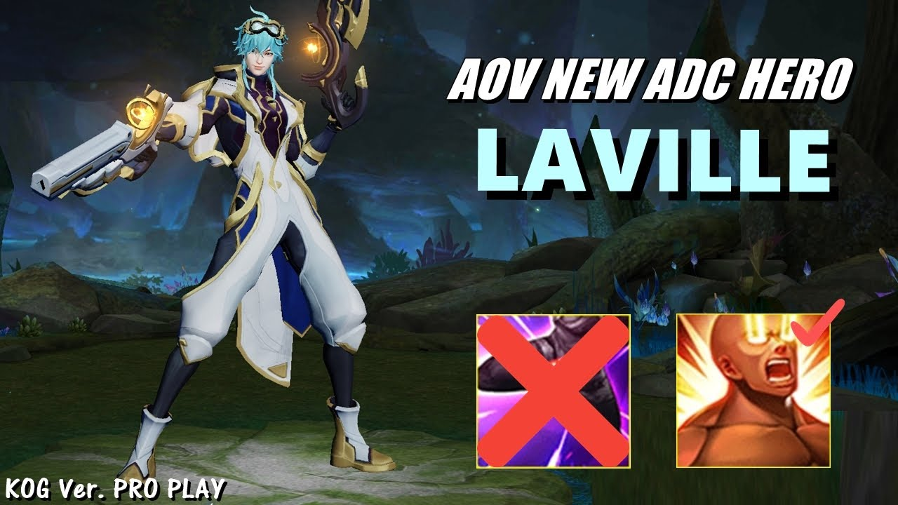 NEW ADC HERO LAVILLE (Hou Yi) - KOG Ver. PRO PLAY | 펜타스톰 신캐 라빌 | AoV | RoV | 傳說對決 | Liên Quân Mobile