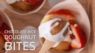 Chocolate Rice Doughnut Bites
