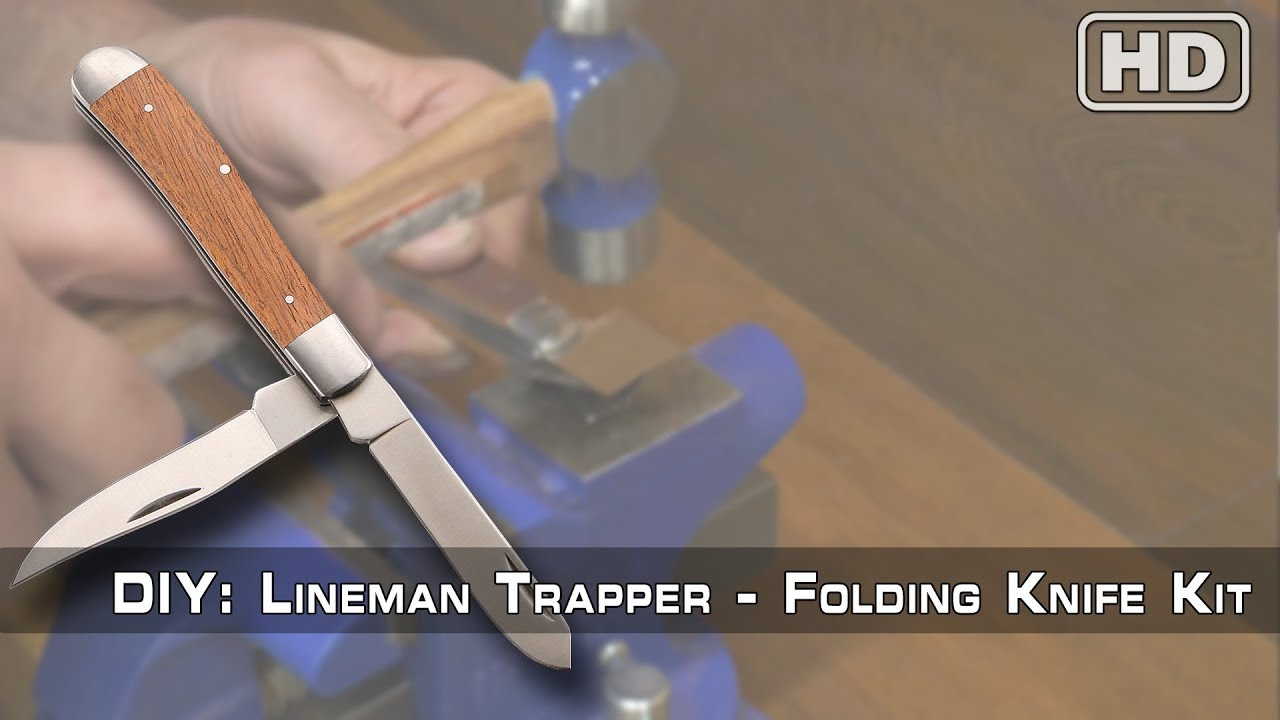 How to Build: The Lineman Trapper Knife Kit by KnifeKits com