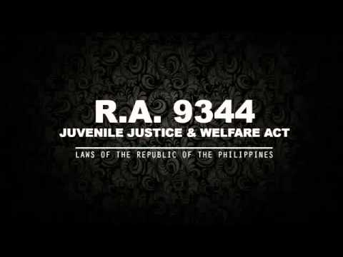 Juvenile justice and welfare act of